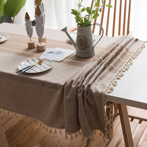Simple Fashion Tassel Tablecloths