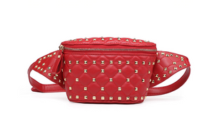 AURORA Studded Bum Bag in Red