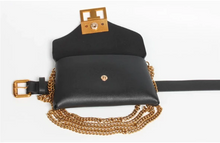 Load image into Gallery viewer, Aurora 2 in 1 Chain Belt Purse Black