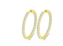 Load image into Gallery viewer, The AURORA Hoops in Gold