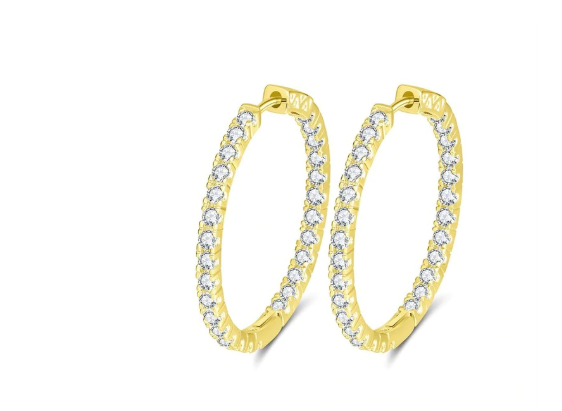 The AURORA Hoops in Gold