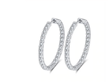 Load image into Gallery viewer, The AURORA Hoops in Silver