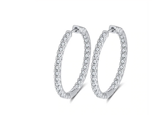 The AURORA Hoops in Silver