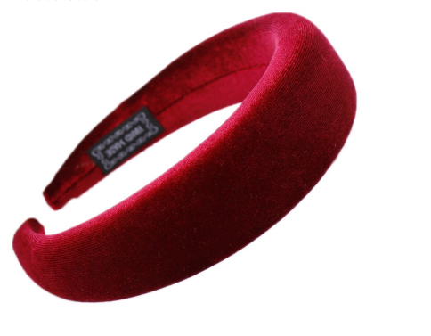 Handmade Headband Wine Red