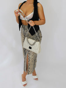 Aurora Chain Purse White