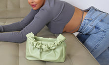 Load image into Gallery viewer, Aurora Scrunchy Purse Mint Green