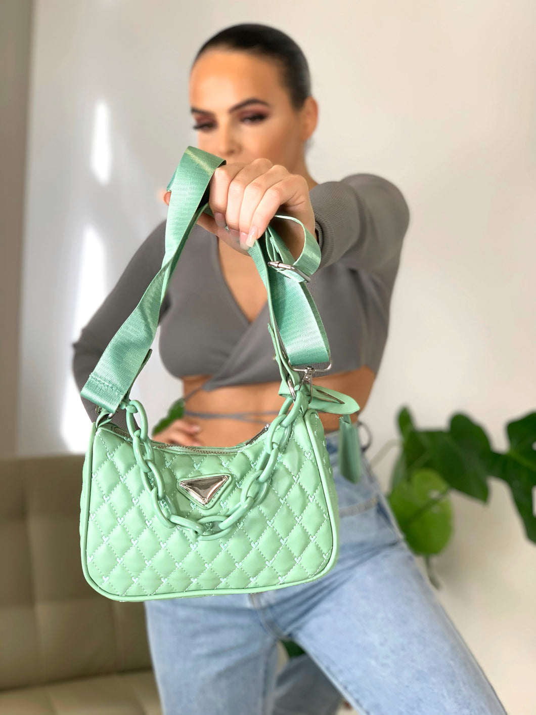 Aurora City Bag Mint Green