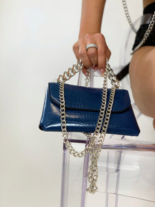 Aurora Chain Belt Bag Blue