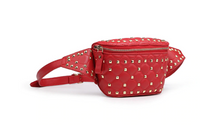 Load image into Gallery viewer, AURORA Studded Bum Bag in Red