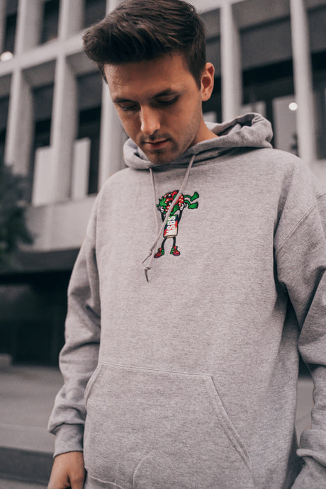 Grey Strawberry Cough Hoodie
