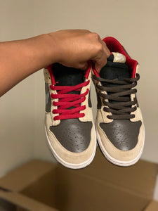 Dark chocolate Linen Dunk Low size 11