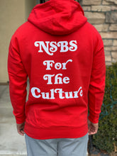 "Load image into Gallery viewer, Red NSBS ""For the Culture"" Hoodie"