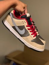 Load image into Gallery viewer, Dark chocolate Linen Dunk Low size 11