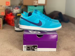 Blue fury Dunk Low size 9 DS