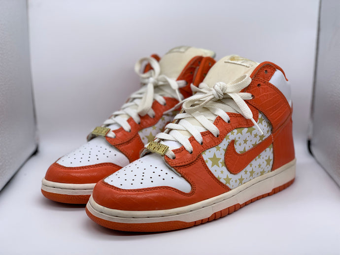 Orange Supreme Dunk High size 9