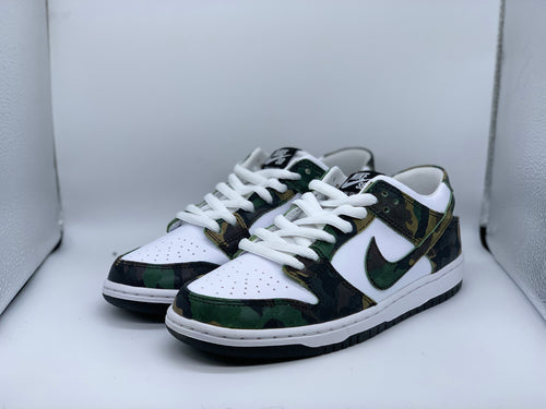 Legion Green Camo Dunk Low size 8 DS