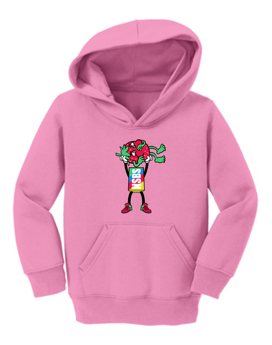 Toddler Pink Strawberry Cough Hoodie (Presale)