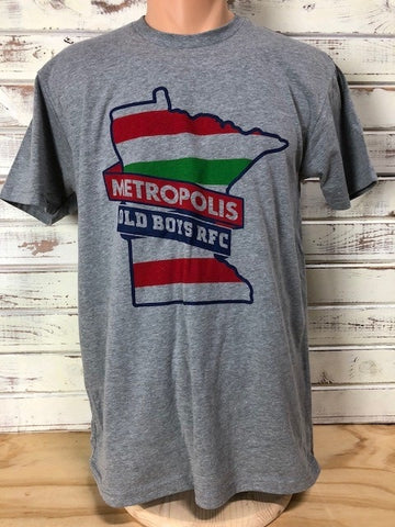 *Metropolis Old Boys Grey T-Shirt (Stock)