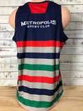 *Metropolis BLK Thick Lines Singlet (RA Stock)