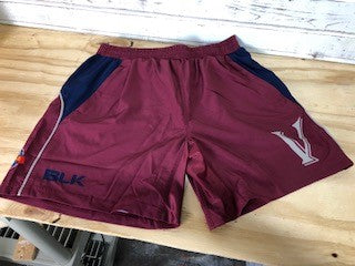 *Valkyries BLK Gym Shorts - Maroon (RA Stock)