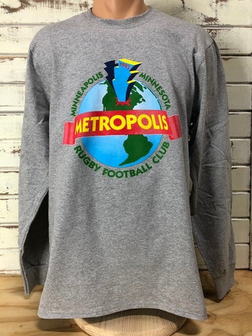 *Metropolis Rugby Long Sleeve World Shirt (RA Stock)