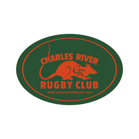 Charles River Oval Decal - (STOCK)