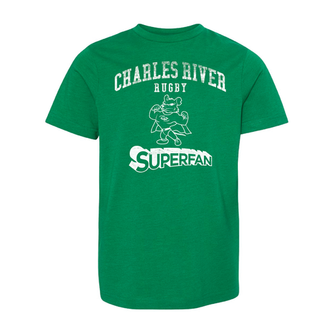 Charles River Superfan Youth T-Shirt, Green