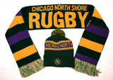 Chicago North Shore Rugby Pom Beanie and Scarf Bundle