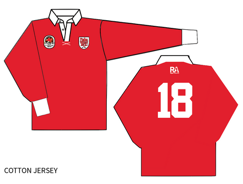 Dallas Rugby Long Sleeve Cotton Jersey with Personalization (Pre-Order)
