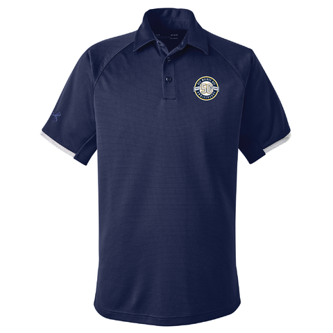 Des Moines RFC 50th - Under Armour Polo, Navy (Pre-Order 77249)