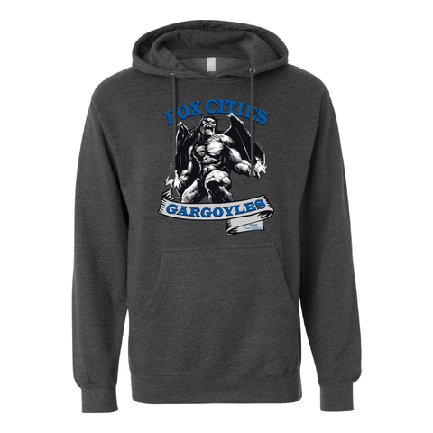 Fox Cities Gargoyles - Hooded Sweatshirt, Charcoal (Pre-Order)