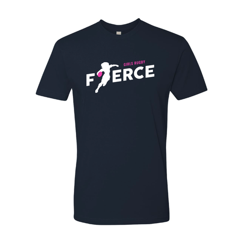 Girls Rugby Fierce Adult T-Shirt, Navy (Pre-Order)