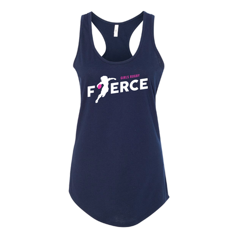 Girls Rugby Fierce Ladies Racerback Tank, Navy (Pre-Order)
