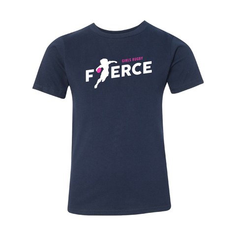 Girls Rugby Fierce Youth T-Shirt, Navy (Pre-Order)
