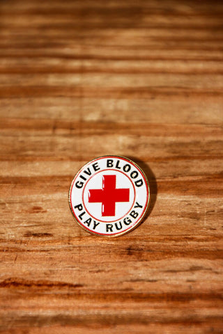 *Give Blood Play Rugby // Lapel Pin