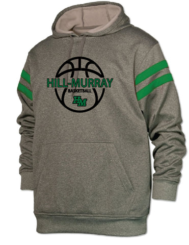 Hill Murray Basketball Men's Striped Sleeve Hoodie (Pre-Order)