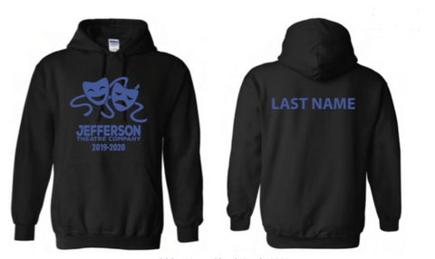 Jefferson Theater Company Black Hoodie (Pre-Order 77196)