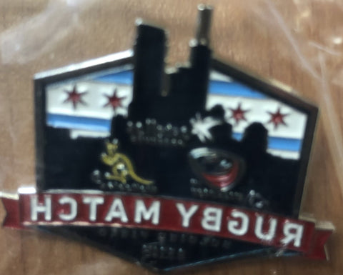 USA Rugby Match Soldier Field 2015 Lapel Pin