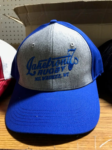 *Lakefront 7s Grey + Royal back Hat (RA)