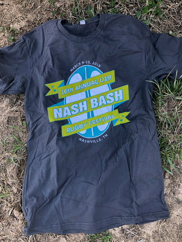 Nash Bash U19 T-Shirt, Charcoal