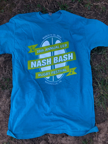 Nash Bash U19 T-Shirt, Bondi Blue