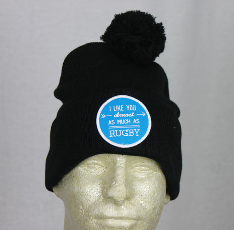 *PRL - I Like You Almost as Much as Rugby Beanie w/ BLUE Patch