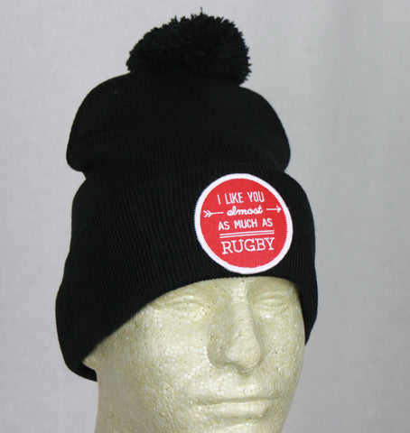 *PRL - I Like You Almost as Much as Rugby Beanie w/ RED Patch