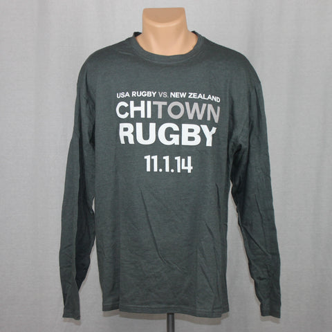 USA Rugby vs NZ All Blacks Event L/S Shirt - Grey