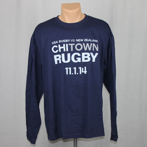 USA Rugby vs NZ All Blacks Event L/S Shirt - Blue