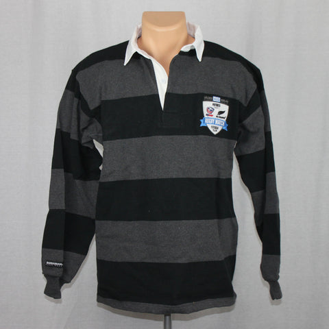 USA Rugby vs NZ All Blacks Event Cotton L/S Jersey - Black/Grey