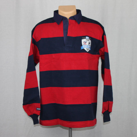 USA Rugby vs NZ All Blacks Event Cotton L/S Jersey - Red/Navy
