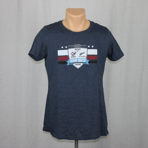 USA Rugby vs NZ All Blacks Ladies Event S/S Shirt - Blue