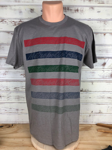 *Metropolis Repeat Stripe Short Sleeve Tee - STONE (RA STOCK)