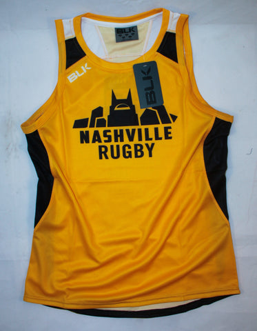 Nashville Rugby BLK Singlet (Yellow w/ City Logo)
